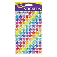 Trend T46910 SuperSpots Assorted Color Sparkle Star Stickers - 1300/Pack