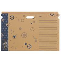 Trend T1021 File 'n Save System 18 1/2 inch x 27 1/4 inch Blue Cardboard Bulletin Board Folder