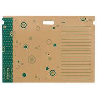 Trend T1023 File 'n Save System 22 1/4 inch x 30 1/2 inch Green Cardboard Bulletin Board Folder