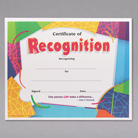 Trend T2965 8 1/2 inch x 11 inch Recognition Certificate   - 30/Pack