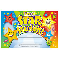 Trend T81019 8 1/2 inch x 5 1/2 inch Star Student Recognition Certificate   - 30/Pack