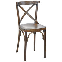 BFM Seating ZWC88CS-CS Sophia Vintage Beechwood Side Chair