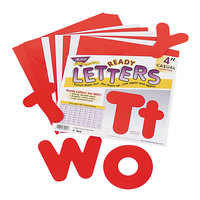 Trend T79902 Ready Letters 4 inch Red Casual Combo Set - 182/Set