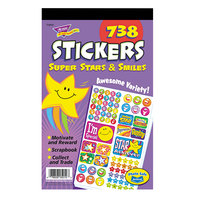 Trend T5010 Assorted Super Stars and Smiles Stickers - 738/Pack