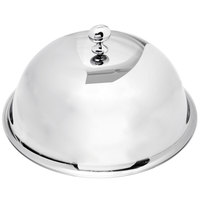 Eastern Tabletop 9410 10 inch Stainless Steel Dome Plate Cover / Cloche with Knob