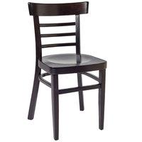 BFM Seating ZWC66DW-DW Giulia Dark Walnut Beechwood Side Chair