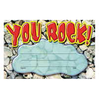 Trend T81401 8 1/2 inch x 5 1/2 inch You Rock Recognition Certificate   - 30/Pack