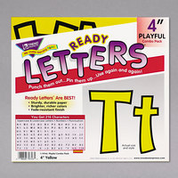 Trend T79743 Ready Letters 4 inch Yellow Cutout Playful Combo Set - 216/Set
