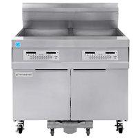 Frymaster 21814GF Oil Conserving 126 lb. Liquid Propane 2 Unit Floor Fryer with SMART4U Lane Controls and Filtration System - 238,000 BTU