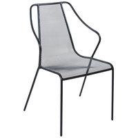 BFM Seating SU1601CBL Kingston Black Stackable Steel Armchair