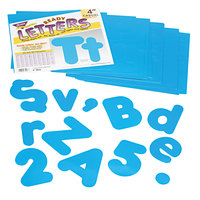 Trend T79903 Ready Letters 4 inch Blue Casual Combo Set - 182/Set
