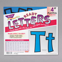 Trend T79744 Ready Letters 4 inch Blue Cutout Playful Combo Set - 216/Set