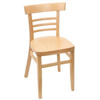 BFM Seating ZWC66NT-NT Giulia Natural Beechwood Side Chair