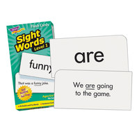 Trend T53017 3 inch x 6 inch Sight Words Level 1 Skill Drill Flash Cards - 96/Pack