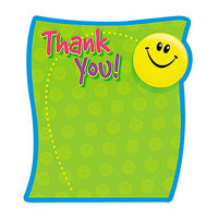 Trend T72030 5 inch x 5 inch 50-Sheet Thank You Note Pad