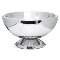 Eastern Tabletop 7043H 12 qt. Stainless Steel Hammered Finish Double Wall Insulated Punch Bowl