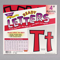 Trend T79742 Ready Letters 4 inch Red Cutout Playful Combo Set - 216/Set