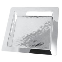 Eastern Tabletop 5413H Brooklyn 13 inch Square Stainless Steel Hammered Finish Tray