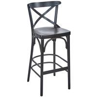 BFM Seating ZWB88BW-BW Sophia Black Walnut Beechwood Bar Height Chair