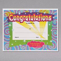 Trend T2954 8 1/2 inch x 11 inch Congratulations Certificate   - 30/Pack