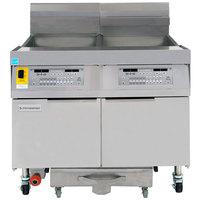 Frymaster FPLHD265 100 lb. Liquid Propane Two Unit Floor Fryer with SMART4U 3000 Controls and Filtration System - 210,000 BTU