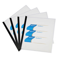 Universal UNV20560 8 1/2 inch x 11 inch Clear 20 Sheet Report Cover with Slide-On Binder Bar - 25/Pack