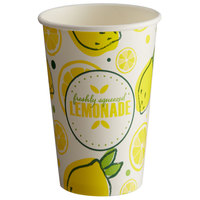 Carnival King 12 oz. Poly Paper Lemonade Cup - 1000/Case