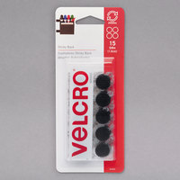 Velcro® 90069 Sticky Back 5/8 inch Diameter Black Circle Fasteners   - 15/Pack