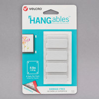 Velcro® 95185 HANGables 1 3/4 inch x 3/4 inch White Fastener   - 8/Pack