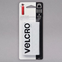 Velcro® 90200 Industrial Strength 4 inch x 2 inch Hook and Loop White Fasteners - 2/Pack