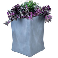 Commercial Zone 724466 ModTec 22 inch x 22 inch Gunmetal Satin Large Square Planter