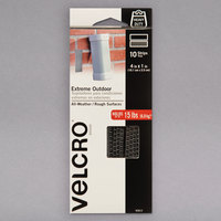 Velcro® 90812 Extreme 4 inch x 1 inch Hook and Loop Titanium Fasteners - 10/Pack
