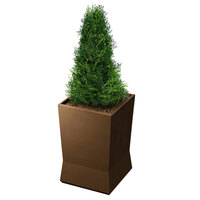 Commercial Zone 724365 ModTec 18 inch x 18 inch Old Bronze Medium Square Planter