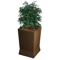 Commercial Zone 724465 ModTec 22 inch x 22 inch Old Bronze Large Square Planter