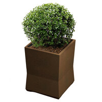 Commercial Zone 724265 ModTec 15 inch x 15 inch Old Bronze Small Square Planter