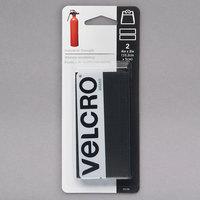 Velcro® 90199 Industrial Strength 4 inch x 2 inch Hook and Loop Black Fasteners - 2/Pack