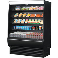 Turbo Air TOM-60DXB-SP-A-N 60 inch Black Extra Deep Refrigerated Air Curtain Merchandiser with Black / Mirrored Interior and Solid Side Panels