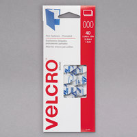 Velcro® 91386 1/2 inch x 1 1/4 inch White Oval Fasteners - 40/Pack