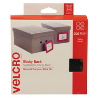 Velcro® 91823 3/4 inch Black Sticky-Back Hook and Loop Dot Fasteners - 200/Box