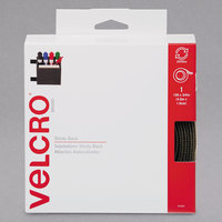 Velcro® 90083 3/4 inch x 15' Beige Sticky-Back Hook and Loop Fastener Tape Roll with Dispenser