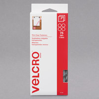 Velcro® 91302 3/4 inch Clear Sticky-Back Hook and Loop Dot Fasteners   - 75/Pack
