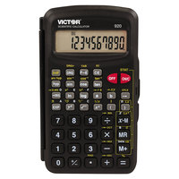 Victor 920 10-Digit LCD Compact Scientific Calculator with Hinged Case