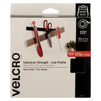 Velcro® 91100 1 inch x 10' Black Industrial Strength Hook and Loop Fastener Tape Roll