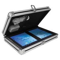 Vaultz VZ00150 8 inch x 5 inch Black / Chrome Locking Storage Clipboard