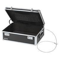 Vaultz VZ00323 14 1/2 inch x 8 inch x 19 1/2 inch Black Locking Storage Chest