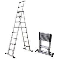 Telesteps 14ES 14' Aluminum 8-Step Telescopic A-Frame Ladder