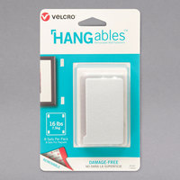 Velcro® 95187 HANGables 1 3/4 inch x 3 inch White Removable Wall Fastener Strip - 8/Pack