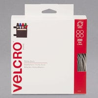 Velcro® 90140 3/4 inch Beige Sticky-Back Hook and Loop Dot Fasteners With Dispenser - 200/Roll