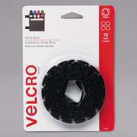 Velcro® 90089 5/8 inch Black Sticky-Back Hook and Loop Dot Fasteners - 75/Pack