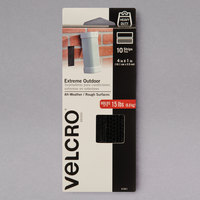 Velcro® 91841 Extreme 1 inch x 4 inch Black Hook and Loop Fastener - 10/Pack